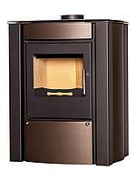 Отопительная печь-камин длительного горения FLAMINGO AMOS (коричневый бархат)