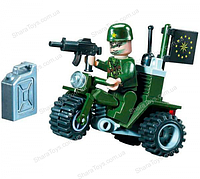 """Конструктор для детей  """"Военный на мотоцикле"""""""