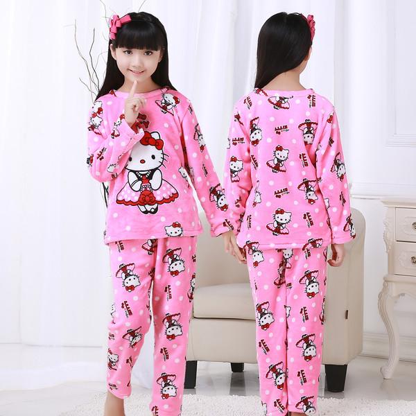 Пижама для девочек  махра с рисунком