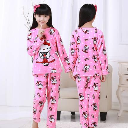 Пижама для девочек  махра с рисунком, фото 2