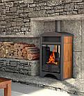 Отопительная печь-камин длительного горения AQUAFLAM VARIO BARMA (водяной контур, орех), фото 6
