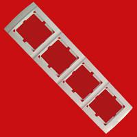 Рамка четверная горизонтальная Аватар 4-я белая ST 524