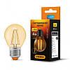 LED лампа 4W E27 2200K бронза Videx G45FA (23690)