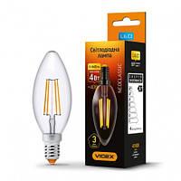 LED лампа VIDEX Filament 4W Е14 4100K (23680)