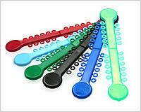 Лигатуры эластичные 22 штуки на модуле, цветные