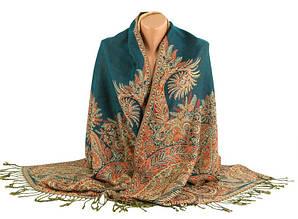 Красивая женская шаль, шерсть, 175х70 см, Trаum 2493-28, цвет зеленый.
