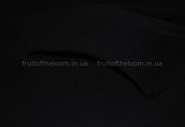 Чёрная мужская классическая толстовка с капюшоном на замке