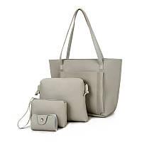 Жіноча сумка велика. Набір сірий колір