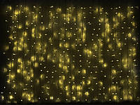 Светодиодная гирлянда «Штора» 1520 светодиодов для улицы Yellow