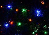 Праздничная светодиодная гирлянда для улицы линейная Delux 200 светодиодов 10м Мультицвет