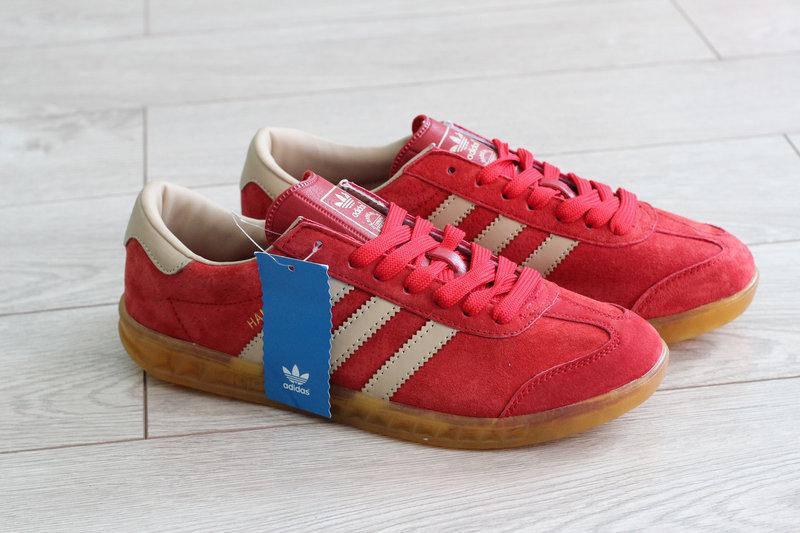 Кроссовки женские Adidas Hamburg цвет красный 41р. (реплика)