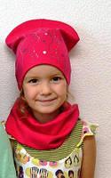 Весенний комплект шапка и снуд. Двойной трикотаж. Турция