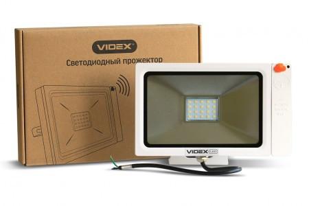 Led прожектор 20 Вт Videx с датчиком движения 5000K (23574)Премиум