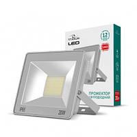 Светодиодный прожектор 20 Вт 6000К Gray 23980