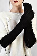 Женские перчатки замшевые Капрезе черные размер 7