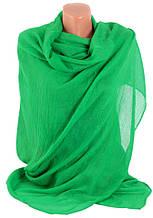 Красивая женская шаль-парео, хлопок, 175х90 см, Trаum 2494-09, цвет зеленый.