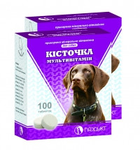 Витамины для собак КОСТОЧКА мультивитамин упаковка - 100 табл