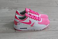 Кроссовки Nike Air Max Zero женские, белые розовые