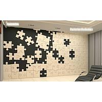 Декоративные гипсовые 3D панели «Пазлы»