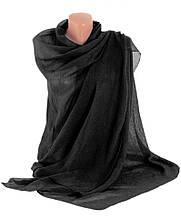 Красивая женская шаль-парео, хлопок, 175х90 см, Trаum 2494-10, цвет черный.