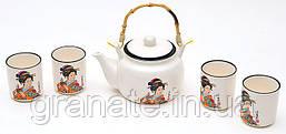 Японский чайный набор: чайник 675мл и 4 чашки 150мл
