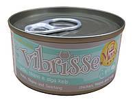 Консерва для кошек Vibrisse Menu Курица с талапией в соусе из водорослей 70 г