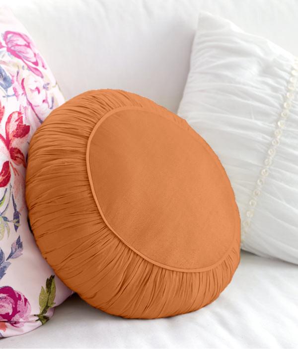 Декоративная подушка модель 2 круглая Медовая
