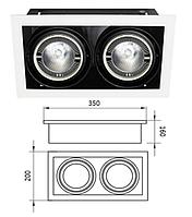 Корпус для встроенных трековых светильников (без лампы PAR-30) 2-местный 5-102L