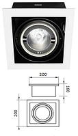 Корпус для встроенных трековых светильников (без лампы PAR-30) 1-местный 5-101L