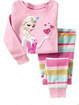 Пижама для девочки Принцессы трикотаж  в розовых тонах  , фото 2