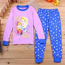 Пижама для девочки Принцессы трикотаж  в розовых тонах  , фото 3
