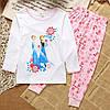 Пижама для девочки Принцессы трикотаж  в розовых тонах  , фото 5