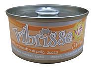 Консерва для кошек Vibrisse Menu Курица с ветчиной в тыквенном соусе 70 г