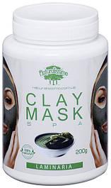 Глиняная маска Разглаживает морщины, повышает эластичность кожи, с ламинарией