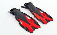 Ласты для плавания ZELART 445  (красный)
