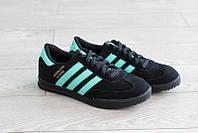 Кроссовки Adidas beckenbauer allround женские, черные замша