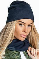 Комплект шапка и шарф-хомут (трикотаж)