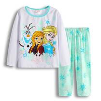 Пижама для девочки Принцессы трикотаж  в сине-зелёных тонах  , фото 3