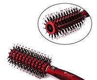 Круглая расческа браш для укладки комбинированная Salon Professional