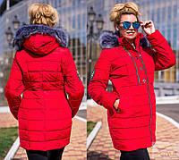 Женская куртка с мехом,на синтепоне 300