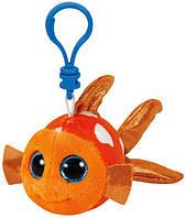 """Мягкая игрушка детская TY Beanie Boo's 35032 Оранжевая рыбка """"Sami"""" 12см"""