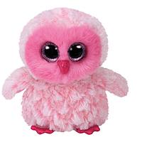 "Мягкая игрушка глазастик антистрес TY Beanie Boo's 36846 Розовая сова ""TWIGGY"" 15см"
