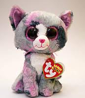 "Мягкая игрушка глазастик антистрес TY Beanie Boo's 37172 Котенок ""Lindi"" 15см"