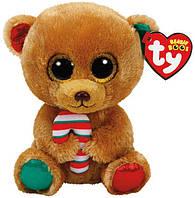 "Мягкая игрушка глазастик антистрес TY Beanie Boo's 37240 Медвежонок ""Bella"" 15см"