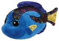 """Мягкая игрушка глазастик антистрес TY Beanie Boo's 37243 Синяя рыбка """"Aqua"""" 15см"""