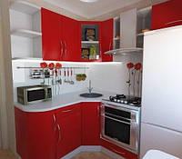 Маленькая радиусная кухня