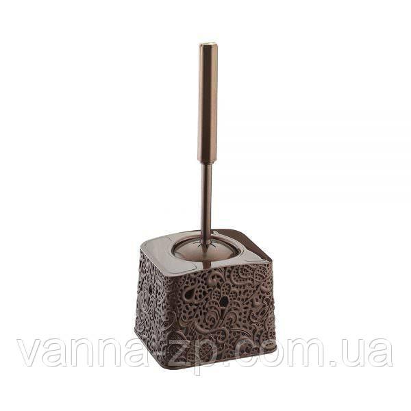 Ершик для унитаза ажурный пластик коричневый