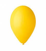 """Воздушный шар  пастель желтый 12"""" (30 см)"""