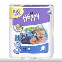 ПОДГУЗНИКИ HAPPY BELLA (BIG PACK) №3 (5-9 кг) 72 шт.