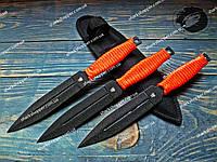 Набор метательных ножей Кунаи 3в1 Красная шнуровка